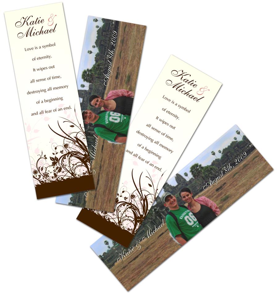 Wedding Bookmarks
