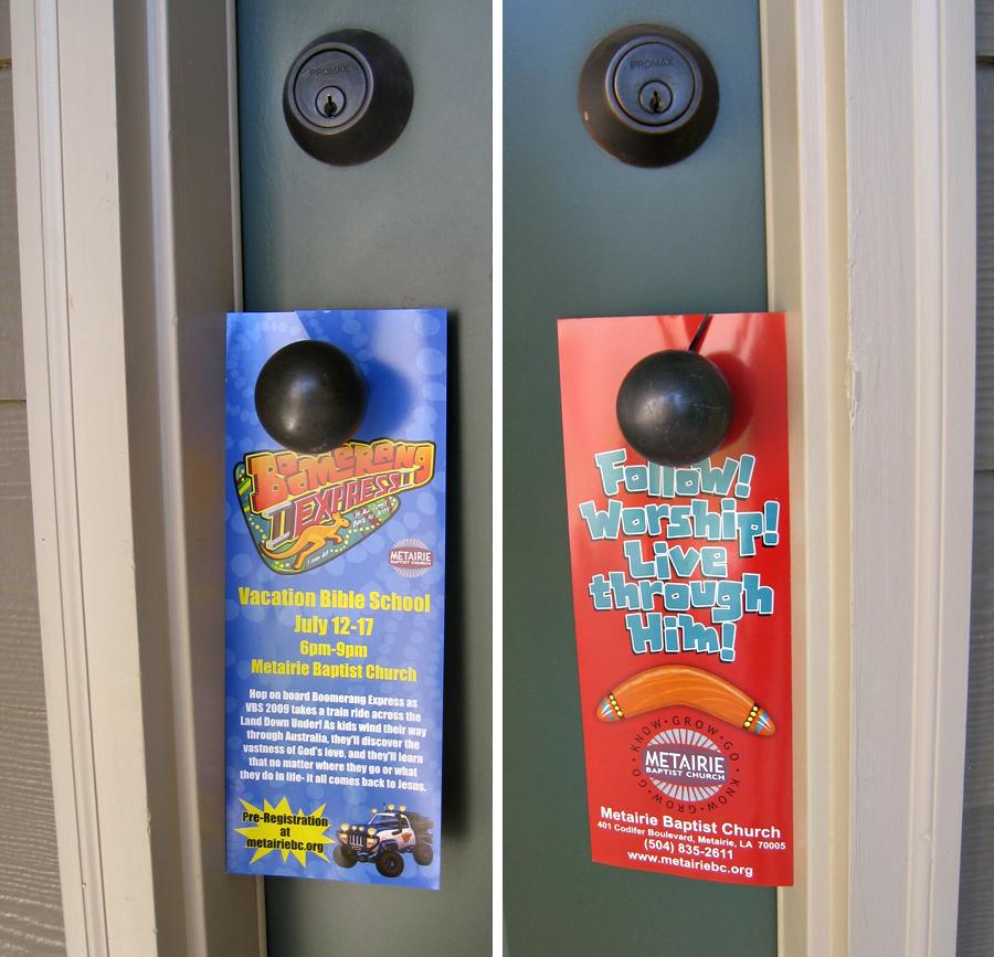 Custom Printed Door Hangers