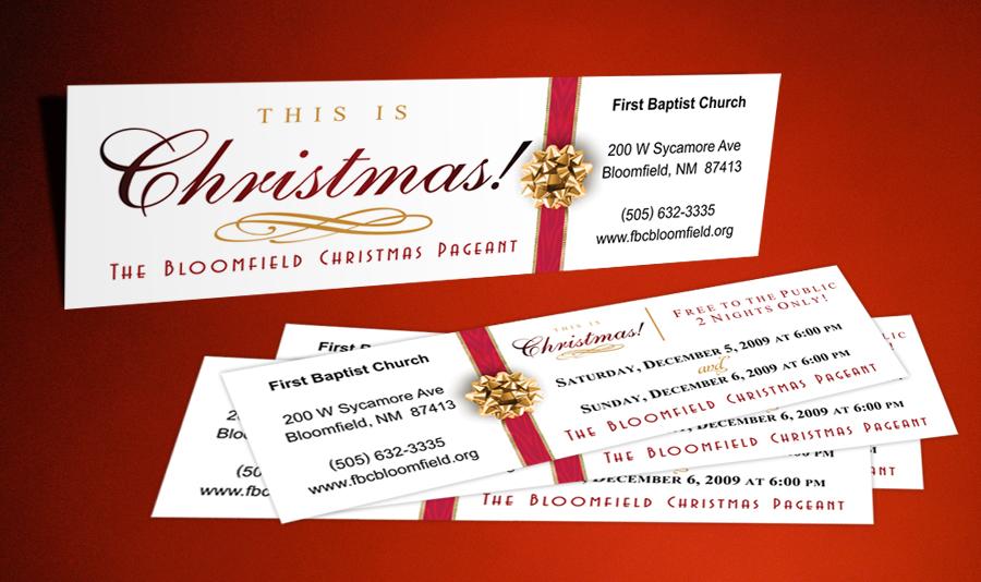 Custom Printed Church Tickets